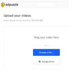 Edpuzzle uploads